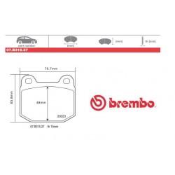 BREMBO - Pastiglie freno 07.B315.27