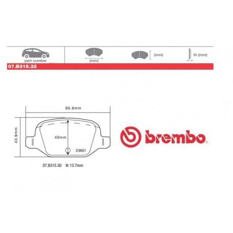 BREMBO - Pastiglie freno 07.B315.32