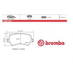 BREMBO - Brake pads 07.B315.34