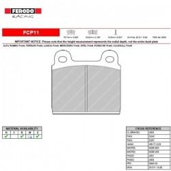 FERODO RACING- Pastiglie freno FCP11H