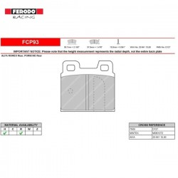 FERODO RACING- Brake pads FCP93R