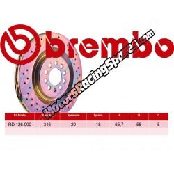 BREMBO Rear brake discs   RD.126.000
