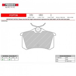 FERODO RACING- Brake pads FCP726H