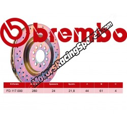BREMBO - Disco Freni FD.117.000
