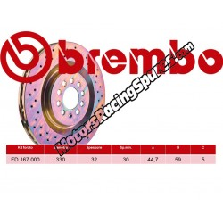 BREMBO - Disco Freni Anteriore FD.167.000