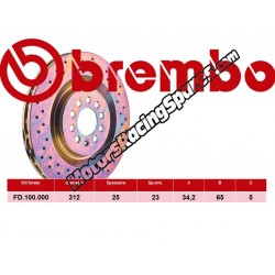 BREMBO - Disco Freni FD.100.000