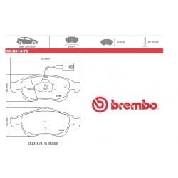 BREMBO - Pastiglie freno 07.B314.79
