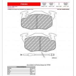 FERODO DS PERFORMANCE-Brake pads FDS393