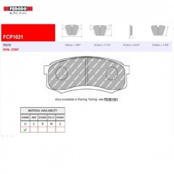 FERODO RACING- Brake pads FCP1021H
