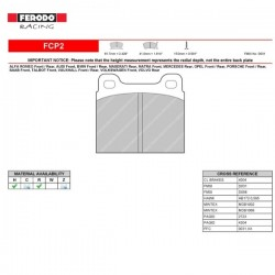 FERODO RACING- Brake pads FCP2W