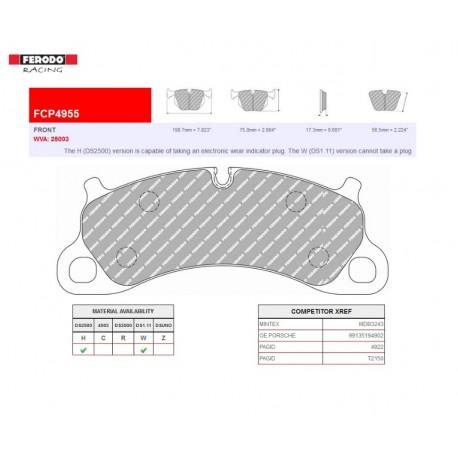 FERODO RACING- Pastiglie freno FCP4955W