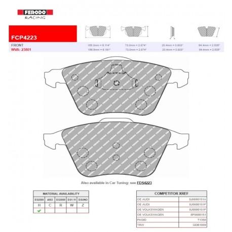 FERODO RACING- Pastiglie freno FCP4223H