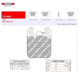 FERODO RACING- Pastiglie freno FCP4663Z
