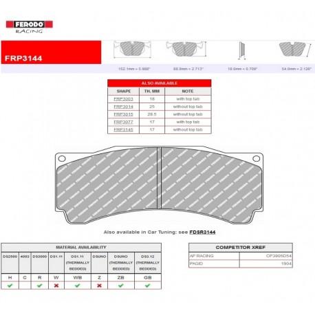 FERODO RACING-Brake pads FRP3144R