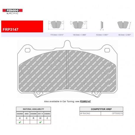 FERODO RACING-Brake pads FRP3147W