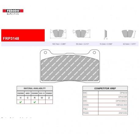 FERODO RACING-Brake pads FRP3148H