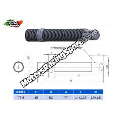 AITECH Double Thread Stud 14x1.25 -14X1.5 L.77mm