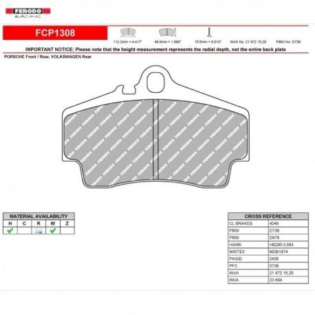 FERODO RACING- Brake pads FCP1308W