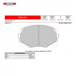 FERODO DS PERFORMANCE-Brake pads FDS1011