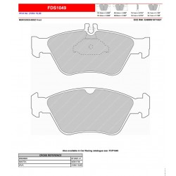 FERODO DS PERFORMANCE-Brake pads FDS1049