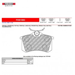 FERODO DS PERFORMANCE-Pastiglie freno FDS1083