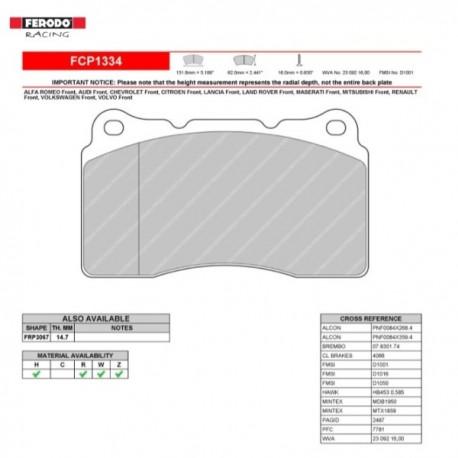 FERODO RACING- Pastiglie freno FCP1334W