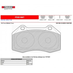 FERODO DS PERFORMANCE-Brake pads FDS1667