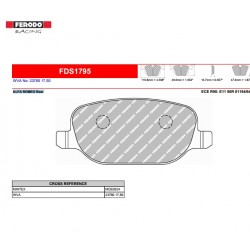 FERODO DS PERFORMANCE-Brake pads FDS1795