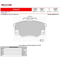FERODO DS PERFORMANCE-Brake pads FDS370