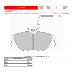 FERODO DS PERFORMANCE Brake pads FDS565