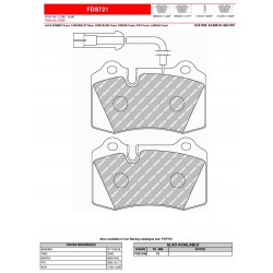 FERODO DS PERFORMANCE-Brake pads FDS721