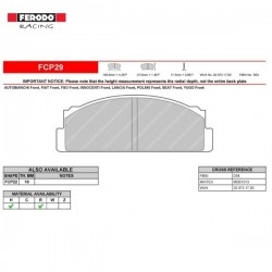 FERODO RACING- Pastiglie freno FCP29R