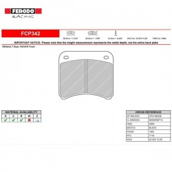 FERODO RACING- Pastiglie freno FCP342C