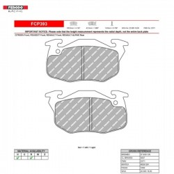 FERODO RACING- Pastiglie freno FCP393R