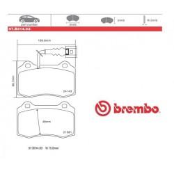BREMBO - Brake pads 07.B314.03