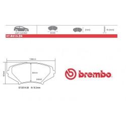 BREMBO - Brake pads 07.B314.08