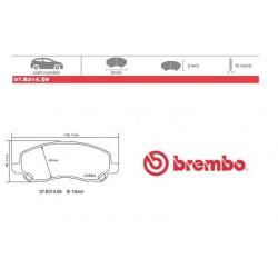 BREMBO - Brake pads 07.B314.09