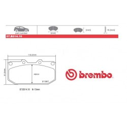 BREMBO - Brake pads 07.B314.10