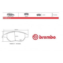 BREMBO - Brake pads 07.B314.11