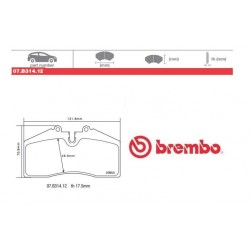 BREMBO - Brake pads 07.B314.12