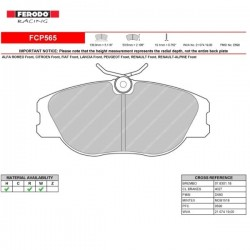 FERODO RACING- Brake pads FCP565H
