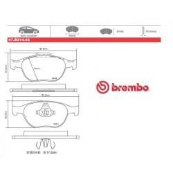 BREMBO - Brake pads 07.B314.42