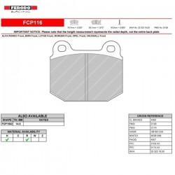 FERODO RACING- Brake pads FCP116R