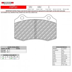 FERODO RACING- Brake pads FCP721R