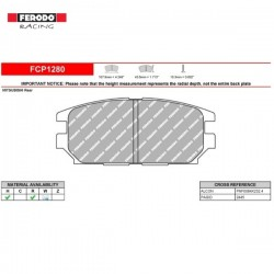 FERODO RACING- Pastiglie freno FCP1280R
