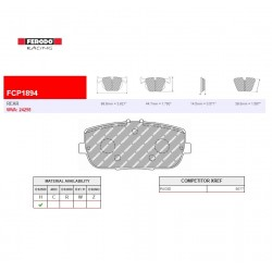 FERODO RACING- Brake pads FCP1894H