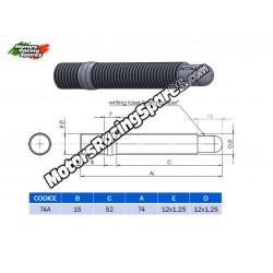 AITECH Double Thread Stud 12x1.25-12x1.25 L.74mm