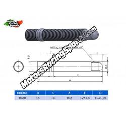 AITECH Double Thread Stud 12x1.5-12x1.25 L.100mm