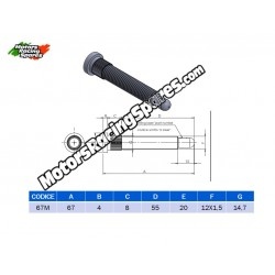AITECH Splinted Thread Stud 12x1.5 L.67mm