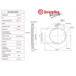 09A.261.50 278X18mm DISC BREMBO RACING